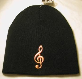 music note tobagan cap hat head warmer